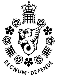 "MI5 Logo. Motto translates as ""Defend the Realm""—a reflection of the David Maxwell-Fyfe's directive for the Service to Defend the Realm"