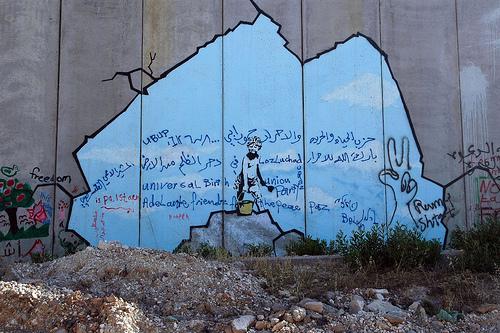 banksy goes to palestine. Black Bedroom Furniture Sets. Home Design Ideas